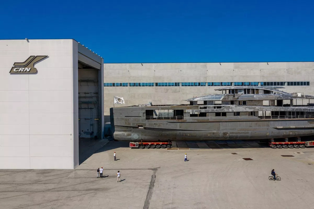 The new CRN 62 meters yacht is taking shape