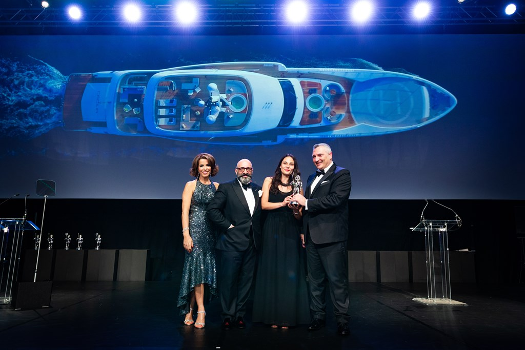 Wider 165 triumphs at the World Superyachts Awards 2019